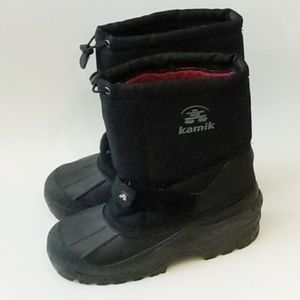 Kamik Black Insulated Snow Boots